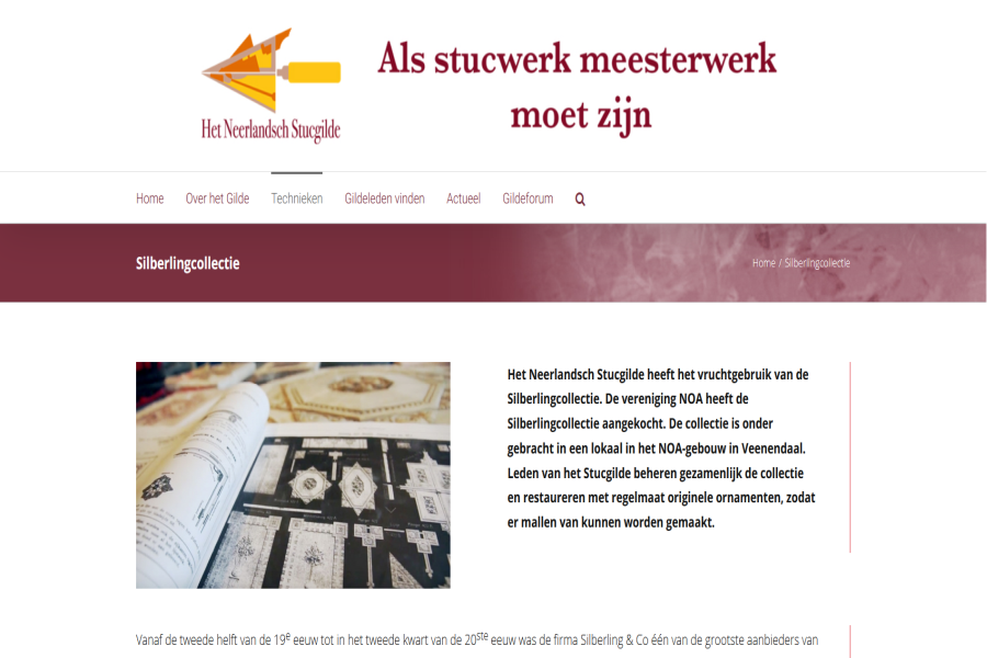 Stucgilde Silberling Collectie